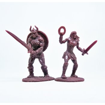 Barbarian and Amazon (brown)