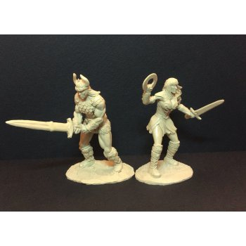 Barbarian and Amazon (beige)